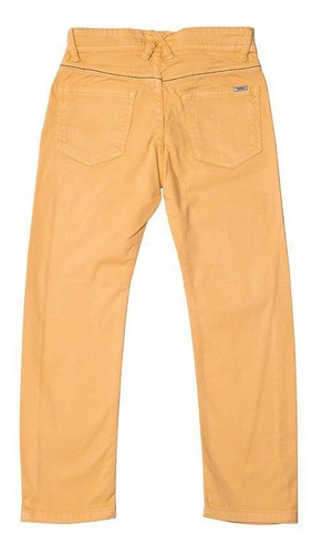 Calça Jeans Infantil Masculina Mostarda Toffee - Nº04