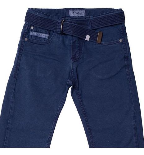 Calça Jeans Infantil Masculina Tofee Cor Azul Escuro - Nº03