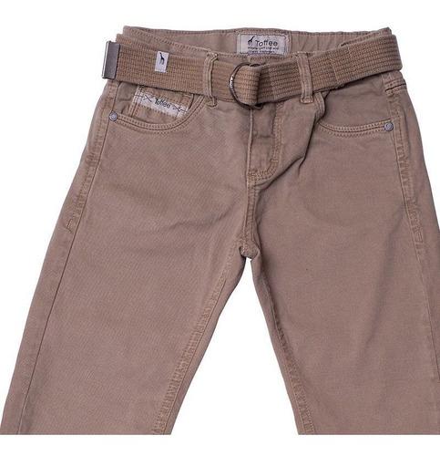 Calça Jeans Infantil Masculina Toffee Cor Caqui - Nº02