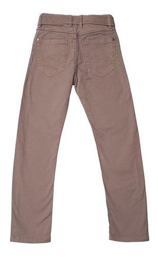 Calça Jeans Infantil Masculina Toffee Cor Caqui - Nº04