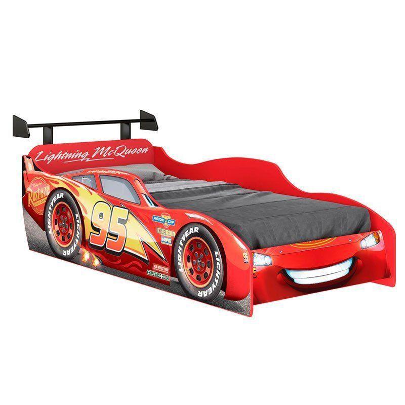 Cama Infantil Carros Star com Aerofólio 8A Pura Magia Cor Vermelho