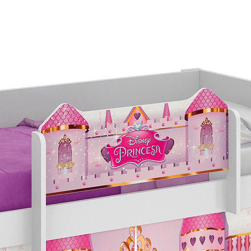 Cama Princesas Play com LED Pura Magia Cor Branco Brilho