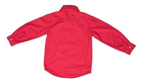Camisa Infantil Vermelha Toffee Cor Vermelho - Nº01