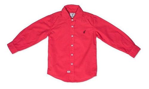 Camisa Infantil Vermelha Toffee Cor Vermelho - Nº06