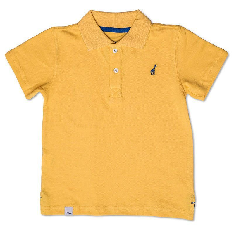 Camiseta Polo Infantil Amarela Toffee - Nº06
