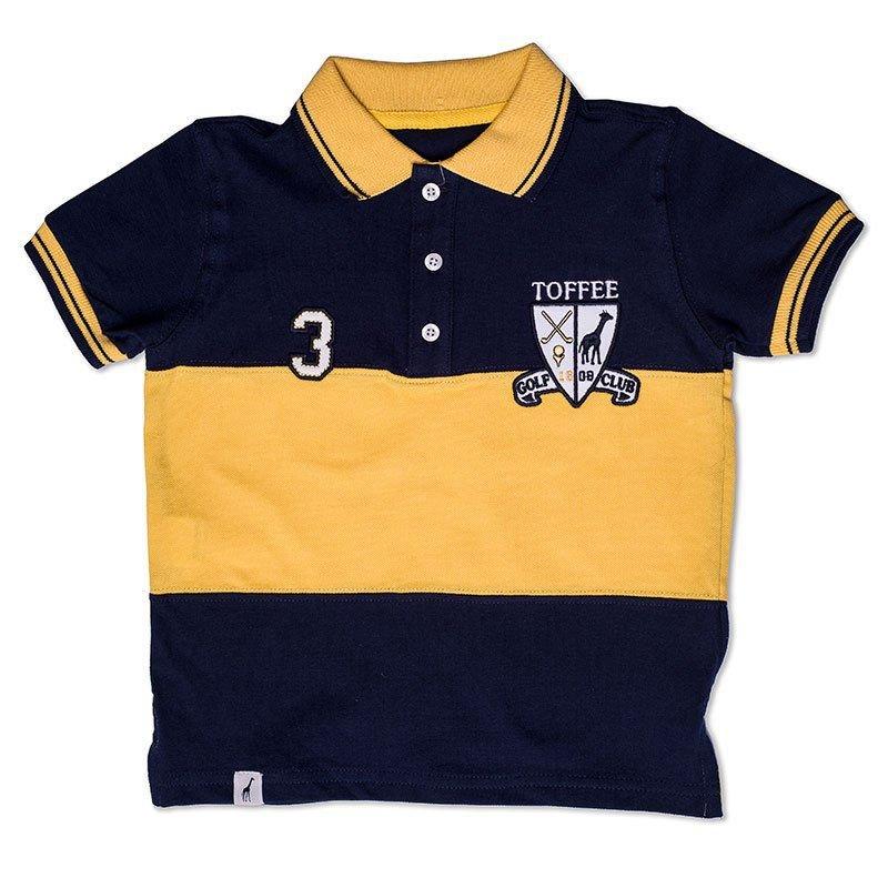 Camiseta Polo Infantil Azul Marinho Toffee - Nº02