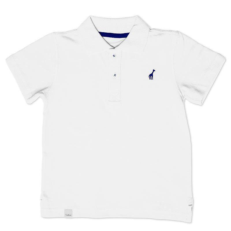 Camiseta Polo Infantil Branca Toffee