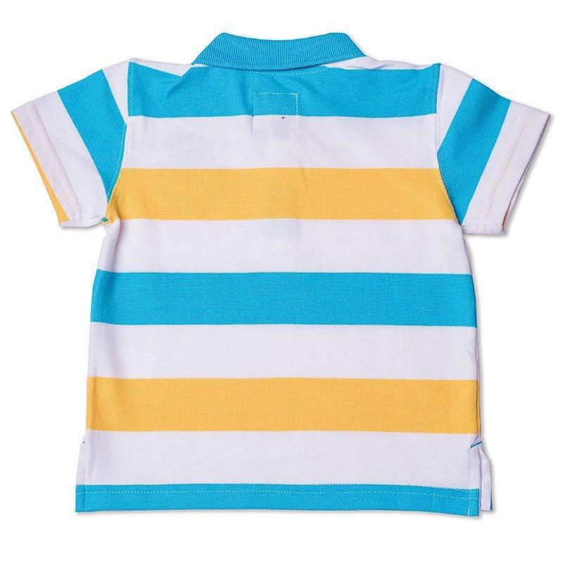 Camiseta Polo Infantil Listrada Piquet Toffee - Nº06