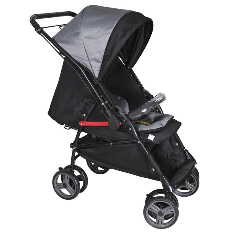 Carrinho de Bebê Maranello II Galzerano Cor Preto Cinza
