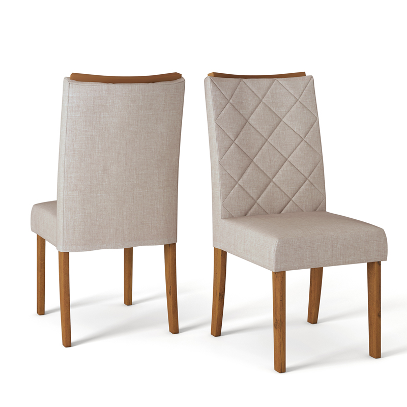 Conjunto com 2 Cadeiras Sara DJ Móveis