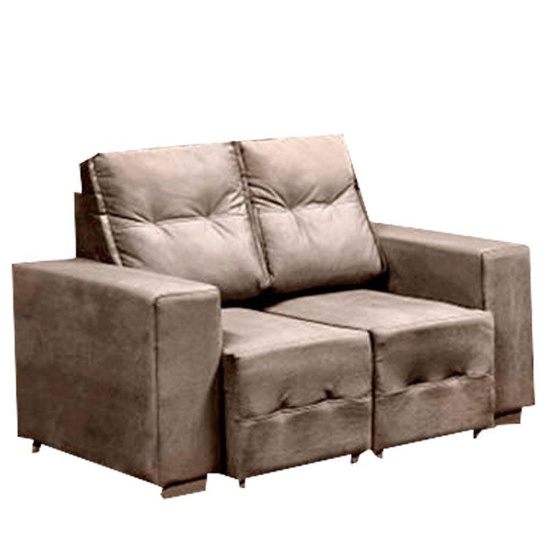 Conjunto sofá 2 e 3 Lugares Macan Retrátil Fratello Cor Bege