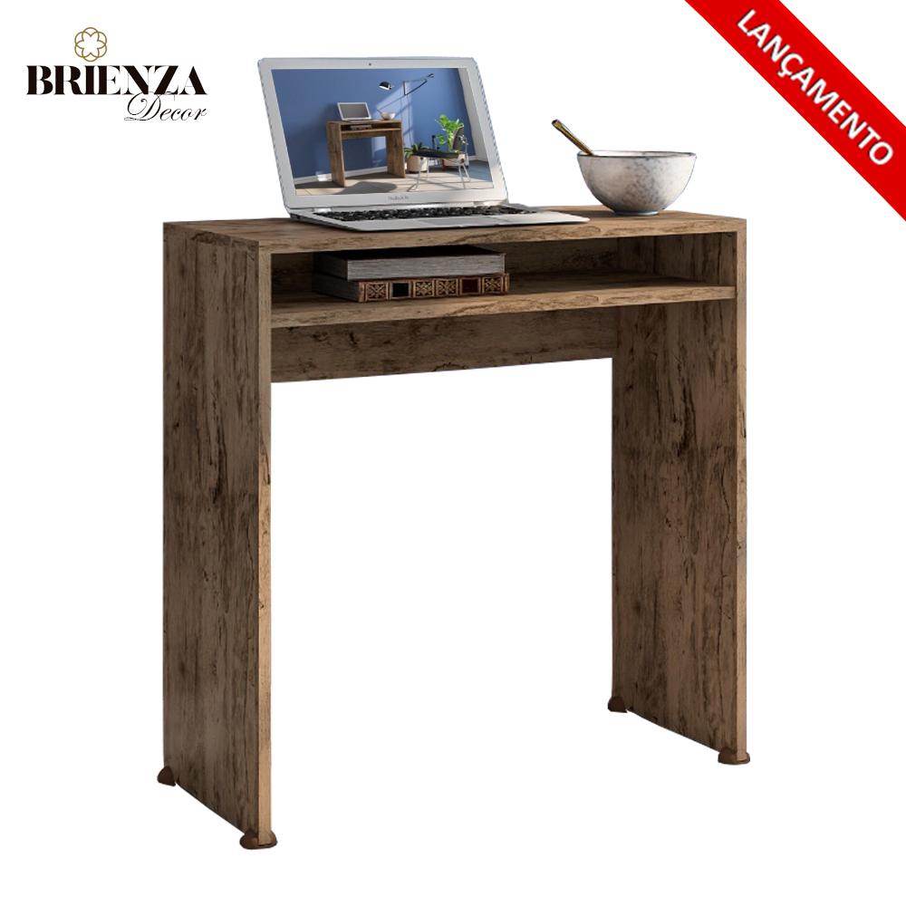 Escrivaninha Mesa Para Computador Aruba Cor Castanho