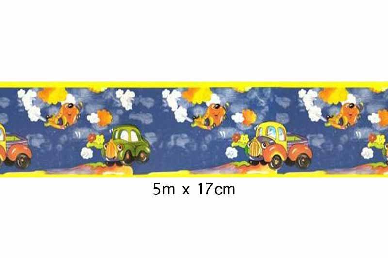 Faixa Decorativa Infantil Carros Boldor Cor Azul