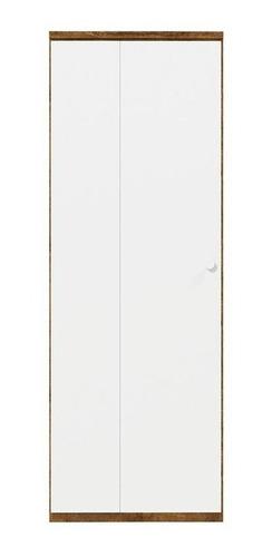 Guarda Roupa Delicato 1 Porta Canto Matic Cor Branco Teka