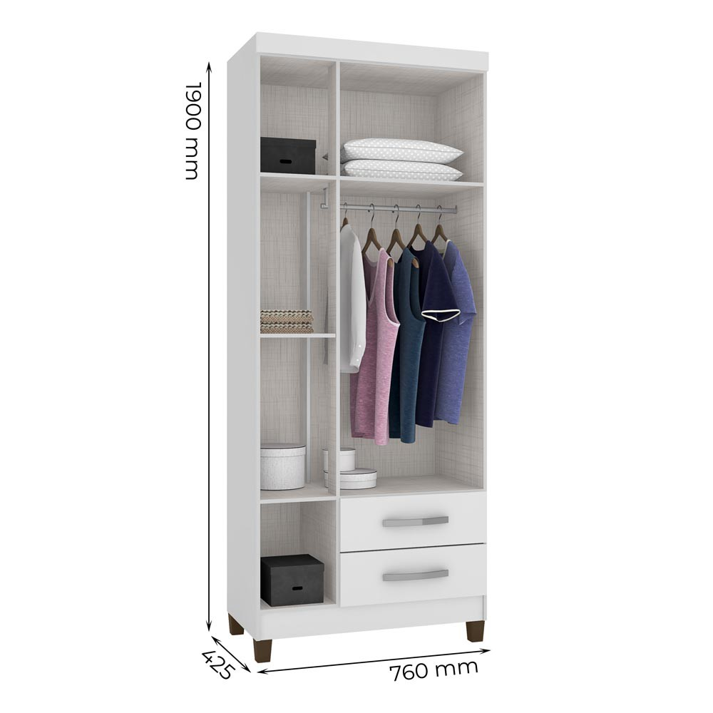 Guarda Roupa Modena 3 Portas Flex Incorplac