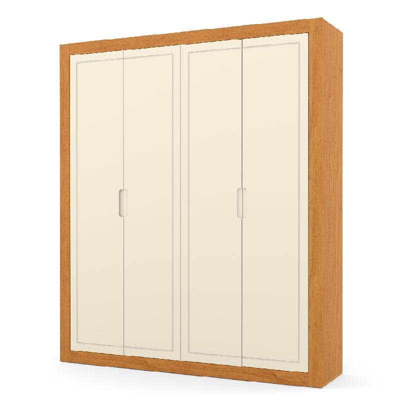 Guarda Roupa Tutto New 4 Portas Matic Cor Off White