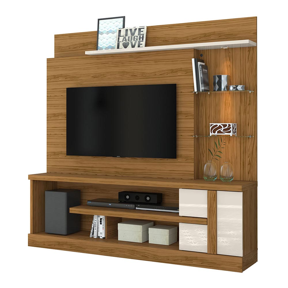 Home Theater Alan Para TV 55 Madetec Cor Naturale Off White