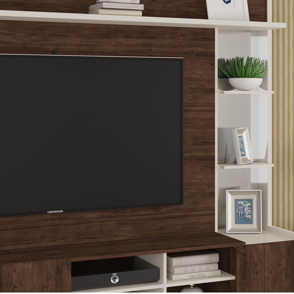 Home Theater Para Tv 65 Vértice Caemmun Cor Havana Off White