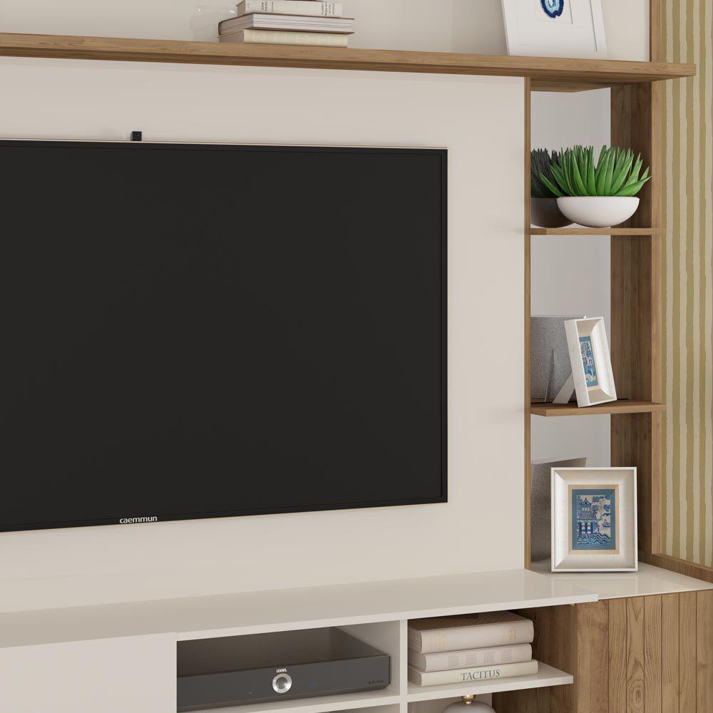 Home Theater Para Tv 65 Vértice Caemmun Cor Off White Buriti