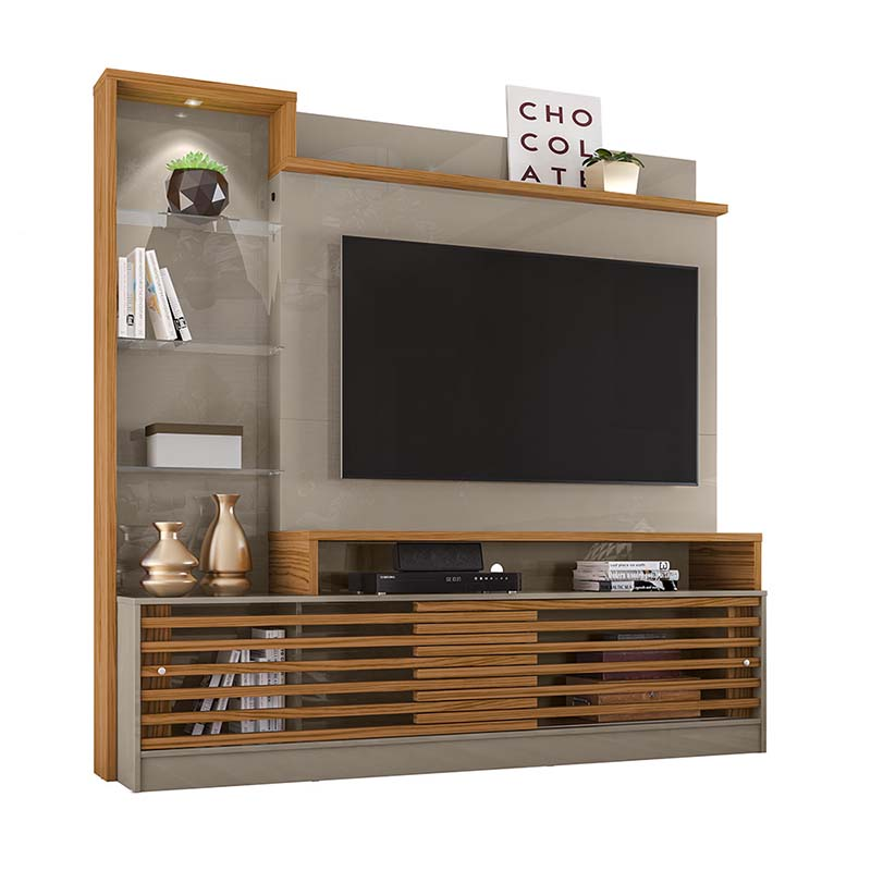 Home Theater Tv 55 Frizz Prime Madetec Cor Fendi Naturale