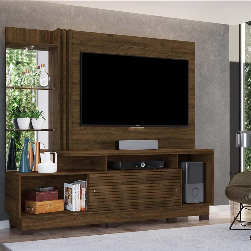 Home Theater Tv 60 Frizz Plus Com Pés Madetec Cor Savana