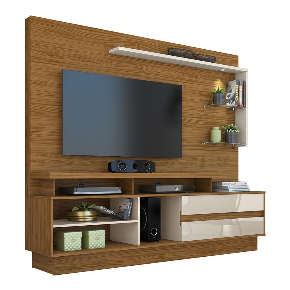 Home Theater Vicente TV  60 Madetec Cor Naturale Off White