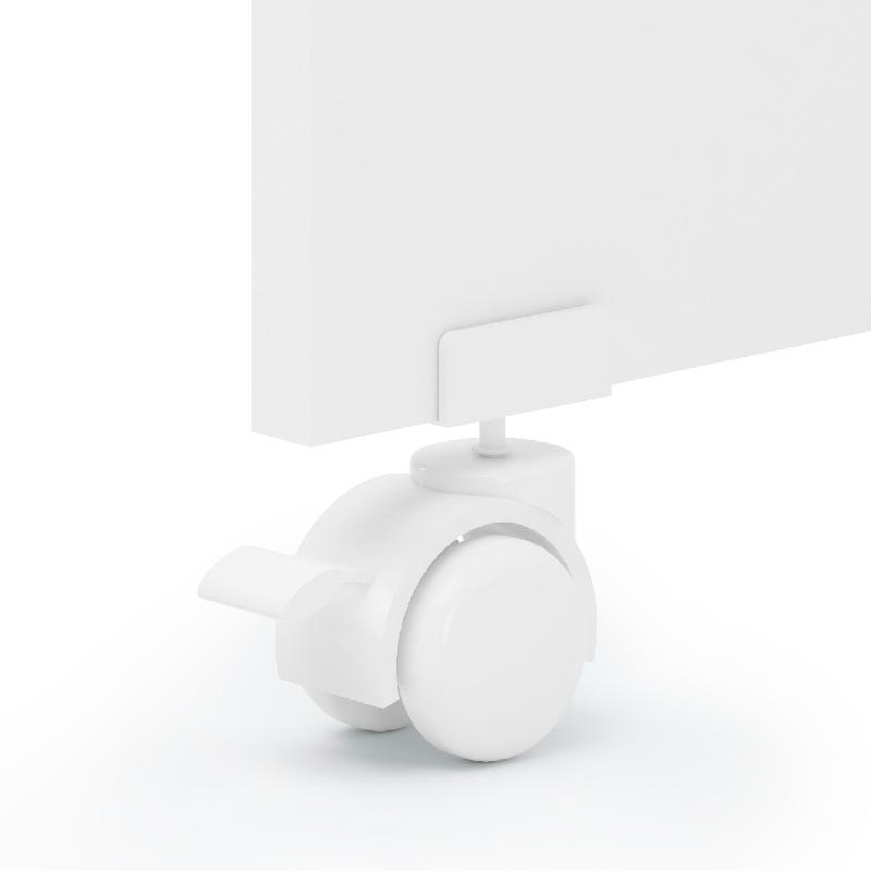 Kit 4 Rodízio para Berço Espessura de 25 mm Cor Branco
