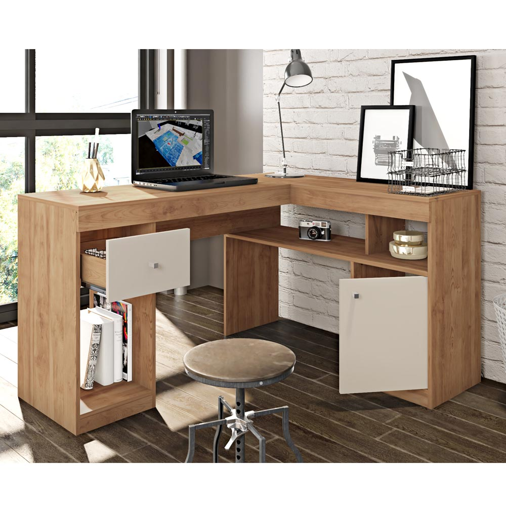 Mesa Office Nilo Caemmun Cor Buriti Off White