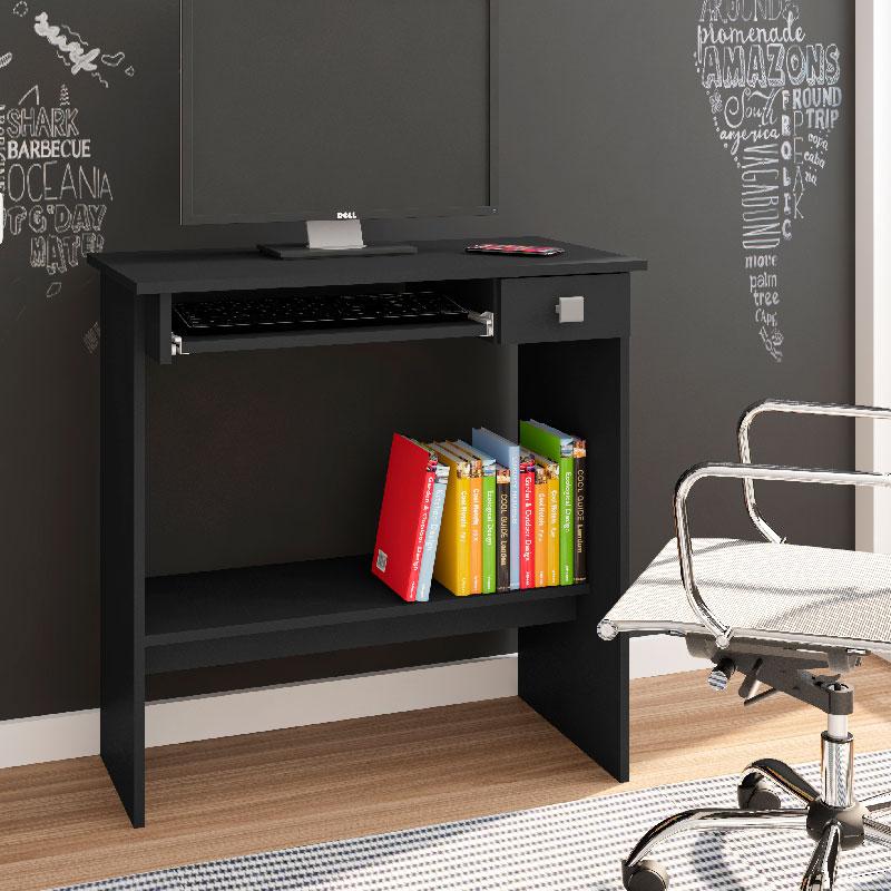 Mesa Para Computador Ajl Móveis Cor Preto