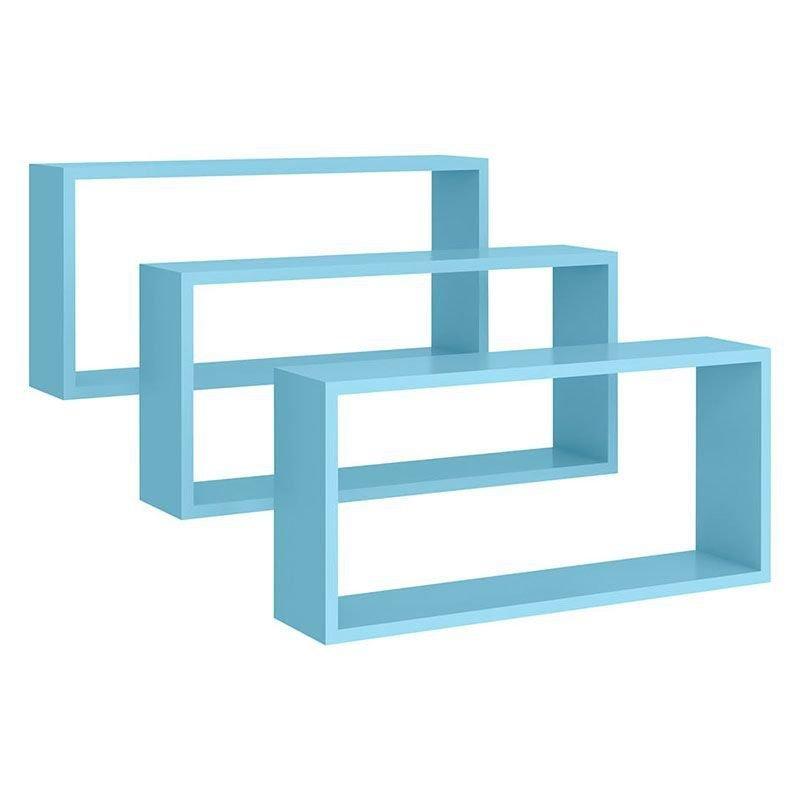 Nicho Retangular Kit 3 Peças Peternella Cor Azul