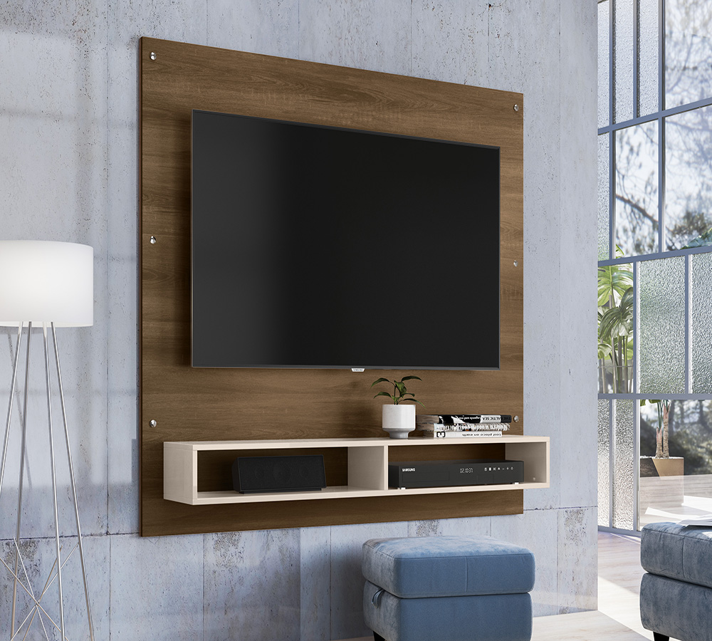 Painel RR 1491 para TV até 60 Polegadas Rud Rack - Canelato Off White