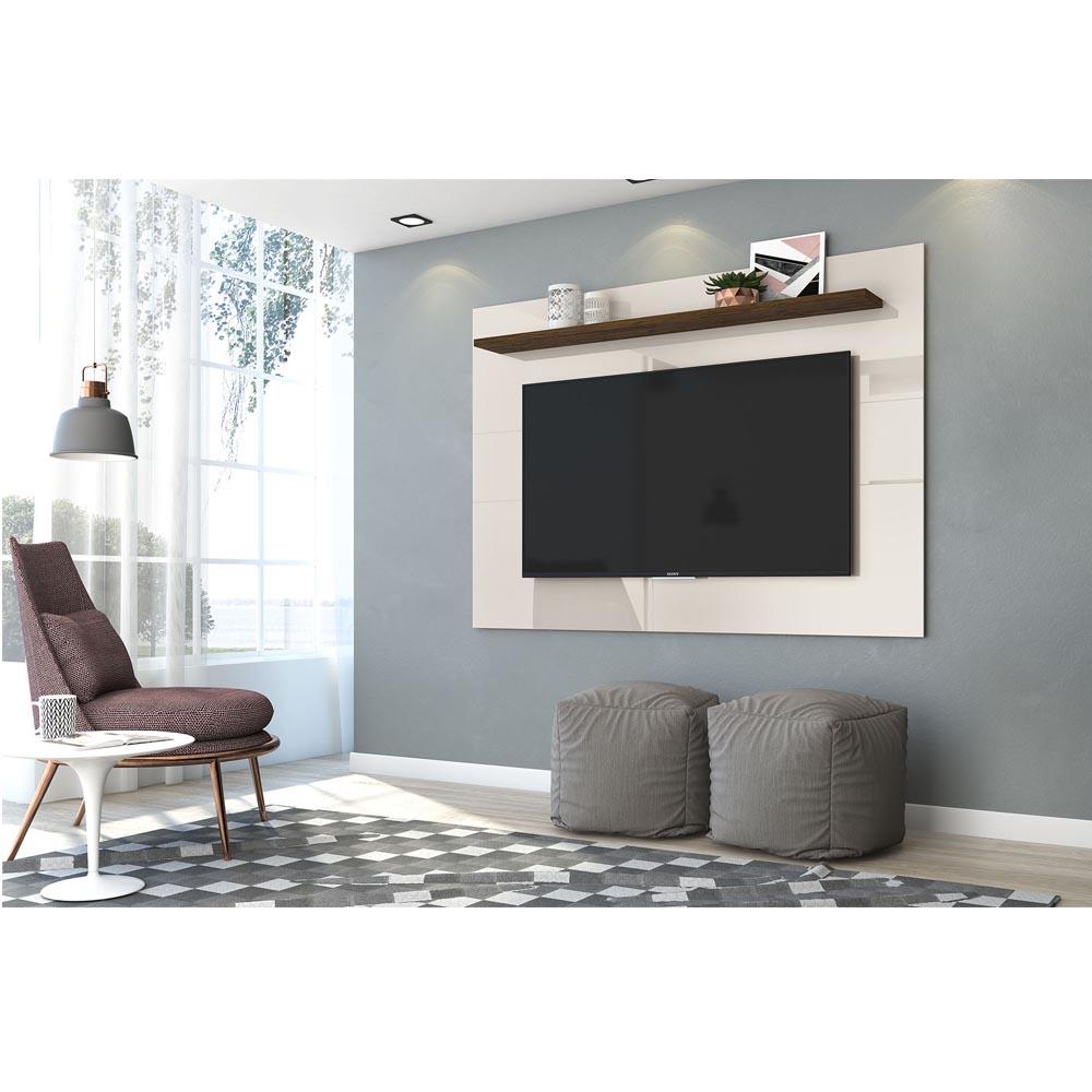 Painel TV 60 Polegadas Lorenzo 160 cm Madetec Off W Savana