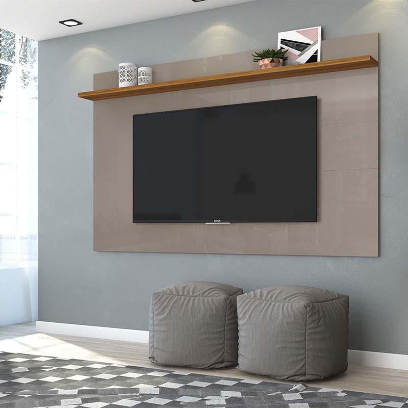 Painel Tv 60 Polegadas Lorenzo 180 Cm Madetec Cor Finde Naturale