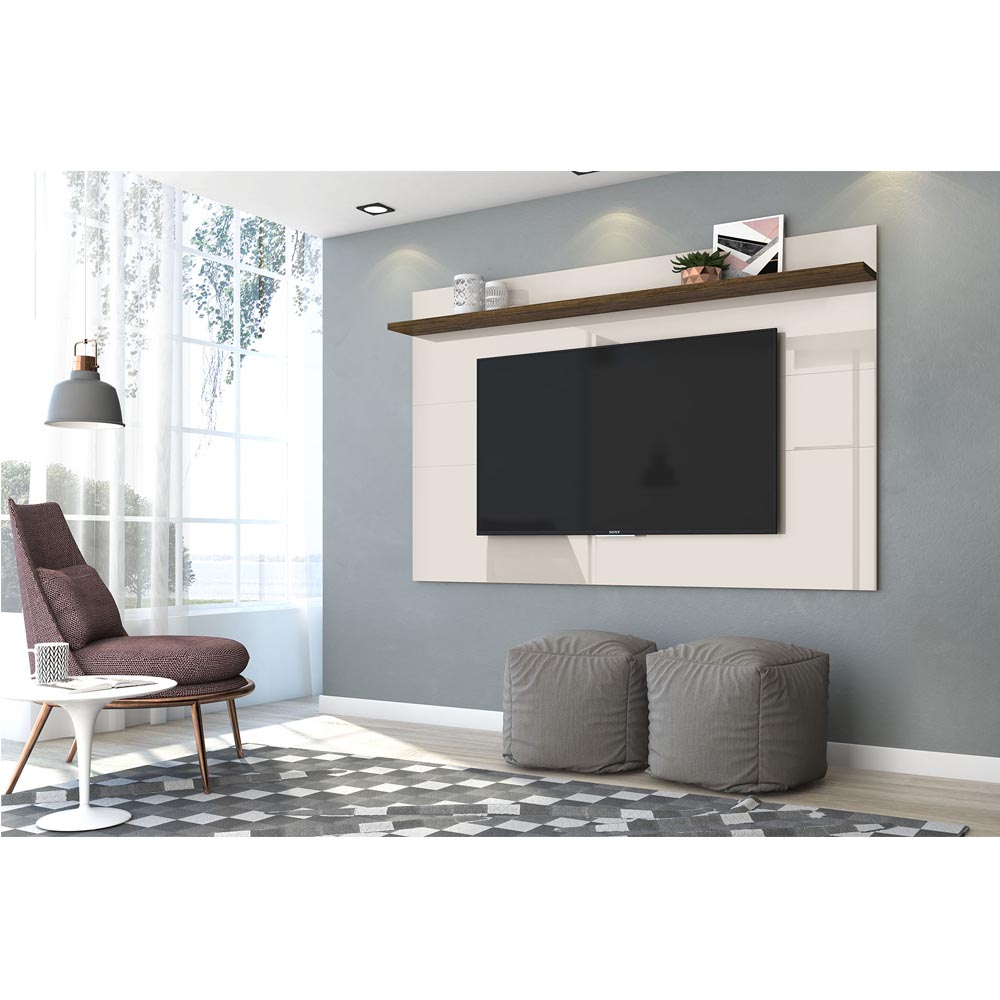 Painel TV 60 Polegadas Lorenzo 180 cm Madetec Off W Savana