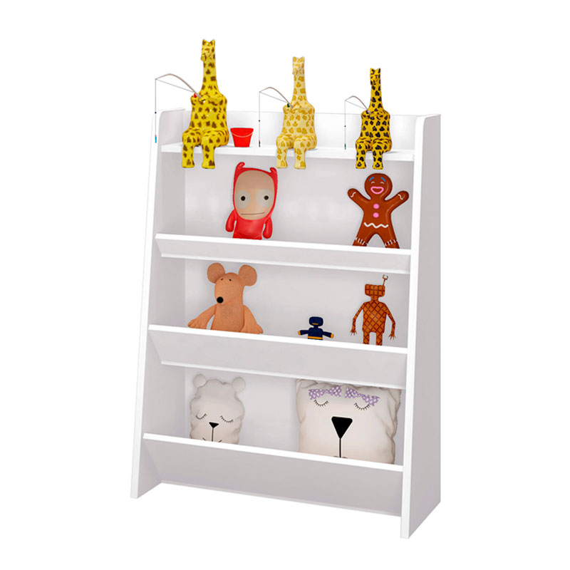 Porta Brinquedos Teco Moveis Estrela Cor Branco