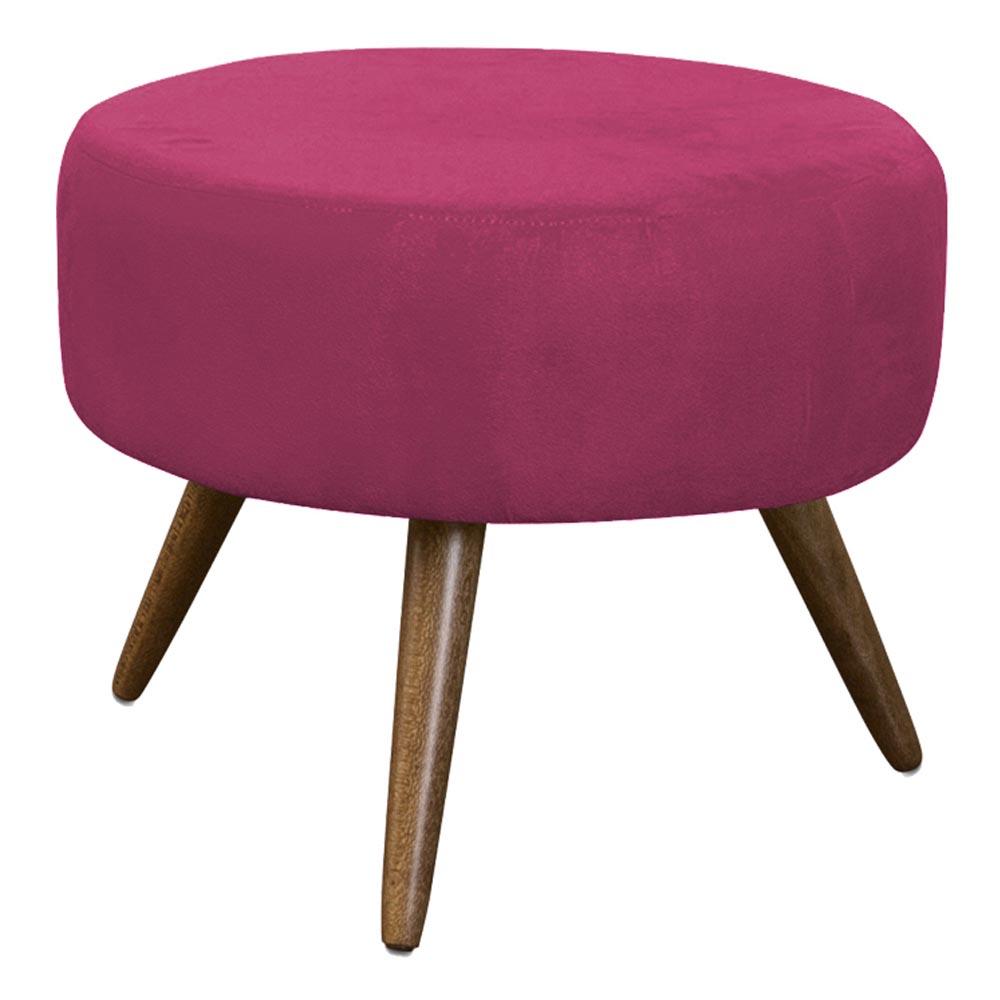 Puff Decorativo Redondo Danny Pés Palitos - Pink