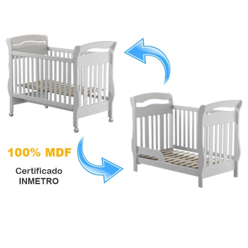 Quarto de Bebê Amore New 2 Portas Matic Cor Branco Brilho