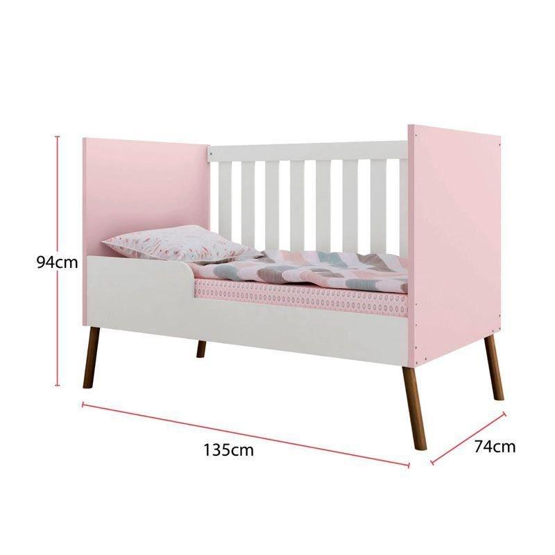Quarto de Bebê Bibi Móveis Estrela Cor Rosa