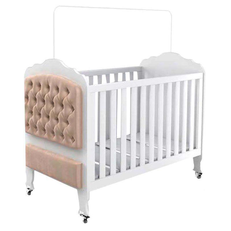 Quarto de Bebê Completo Elegance Fiorello Cor Branco Acetinado