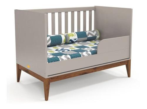 Quarto De Bebê Nature Clean 2 Portas Matic Cinza Eco Wood