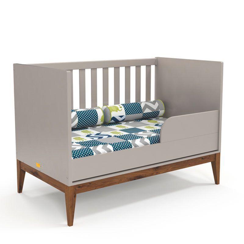 Quarto de Bebê Nature Clean 3 Portas Matic Cor Cinza Eco Wood