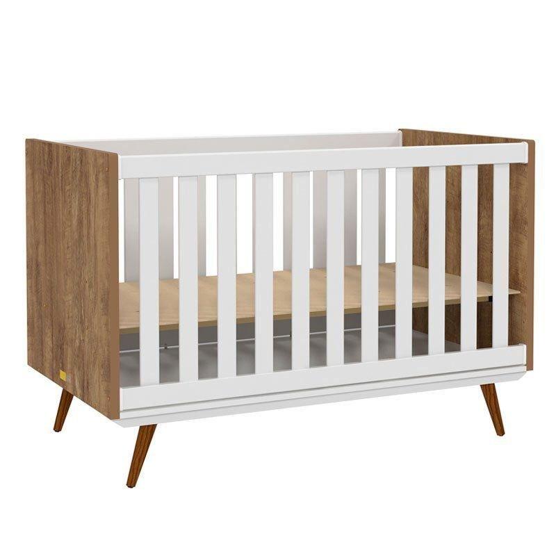 Quarto de Bebê Retrô 2 Portas Matic Cor Branco Teka