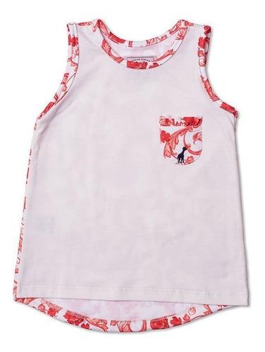 Regata Infantil Com Bolso Floral Laranja Toffee - Nº04