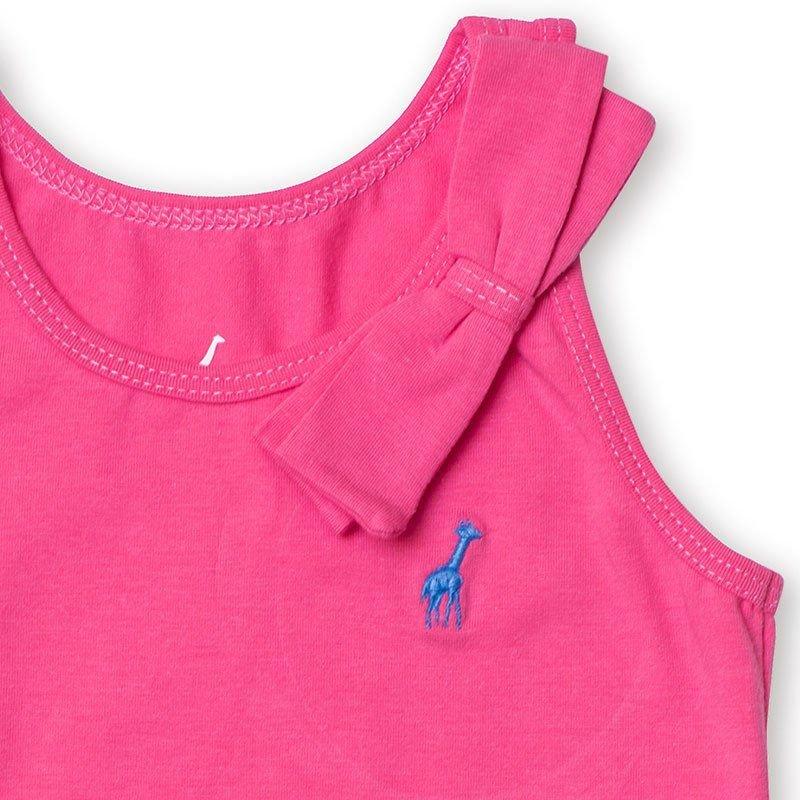 Regata Infantil com Laço Rosa Toffee - Nº04