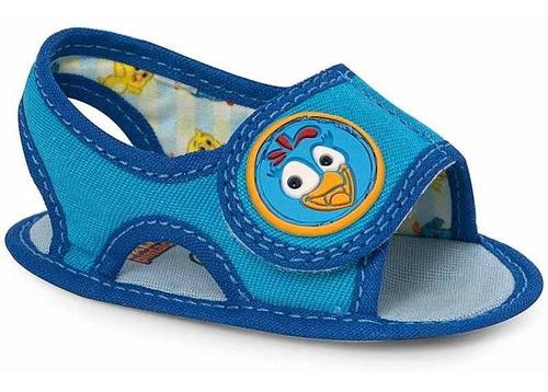 Sandália Infantil Baby Azul Galinha Pintadinha - N°17