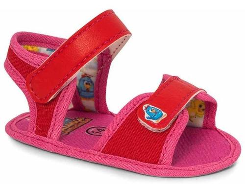 Sandália Infantil Baby Vermelho Galinha Pintadinha - N°16