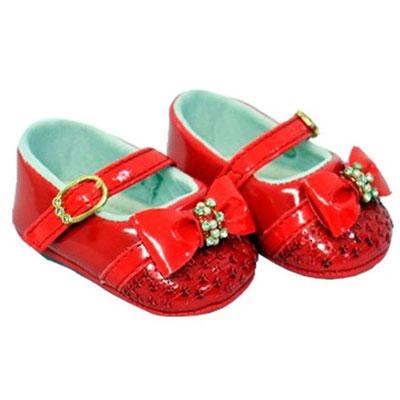 Sapatilha Infantil Baby Fashion Pimpolho Cor Vermelho - N°1 (0-2 meses)