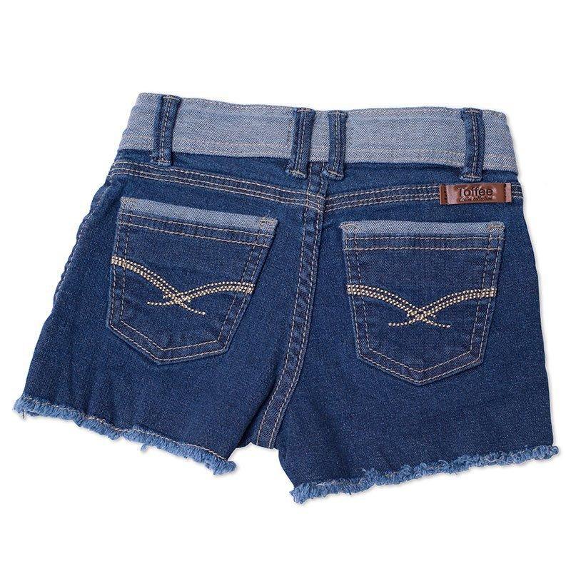 Shorts Jeans Infantil Feminino Toffee