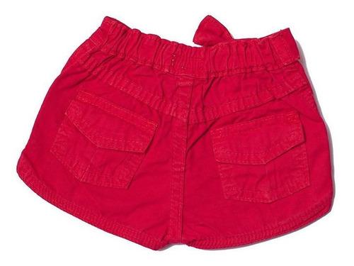 Shorts Jeans Infantil Feminino Toffee Cor Vermelho - 9 a 12 meses