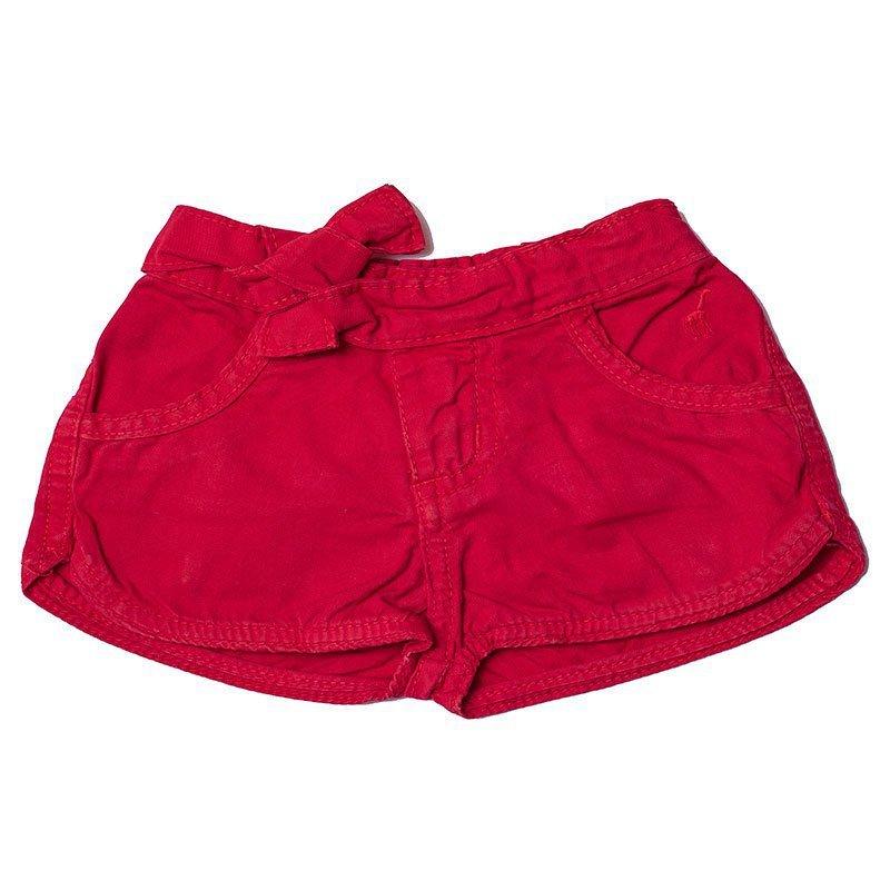 Shorts Jeans Infantil Feminino Vermelho Toffee